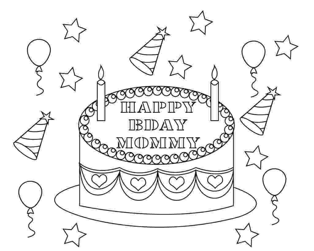 coloring pages happy birthday mom happy birthday mommy coloring pages to print free mom coloring birthday pages happy