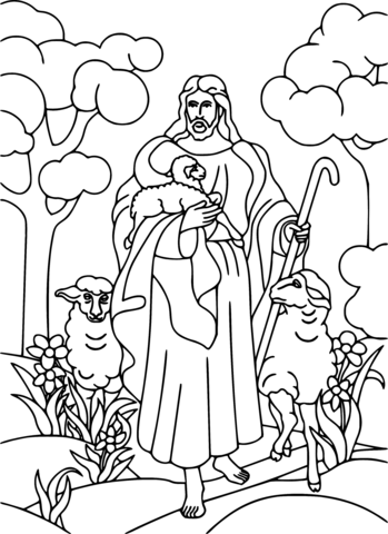 coloring pages jesus jesus holding lamb coloring page free printable coloring jesus coloring pages