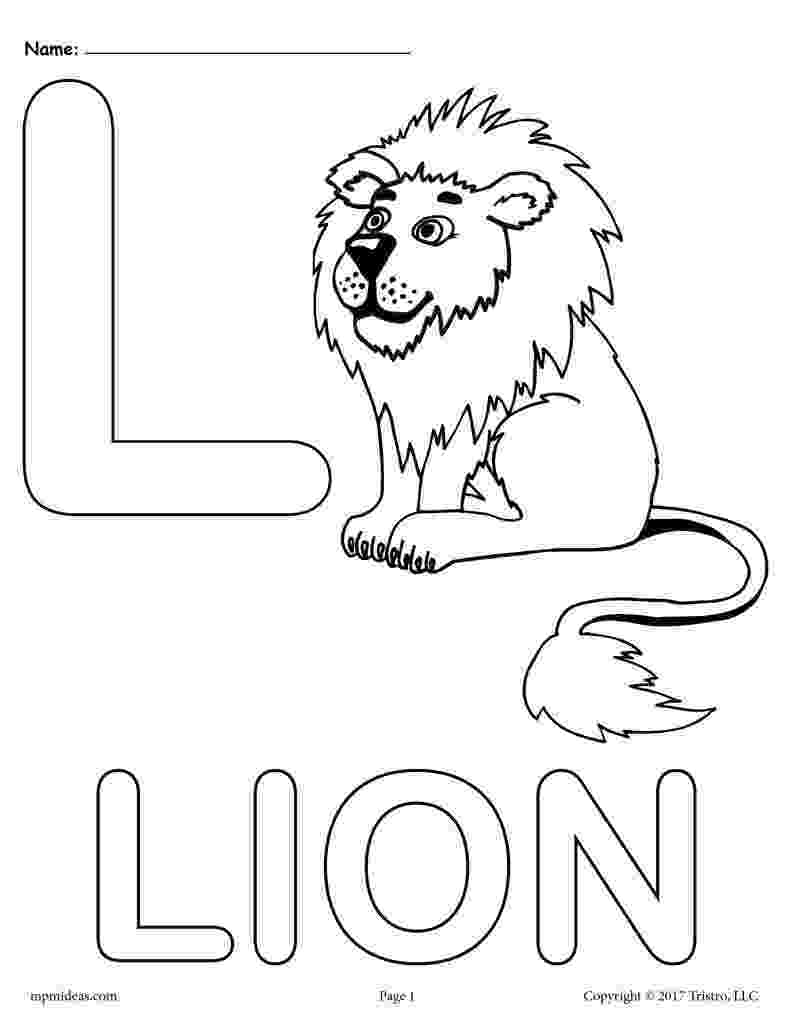 coloring pages letter l colouring page of letter l with a lion l pages letter coloring