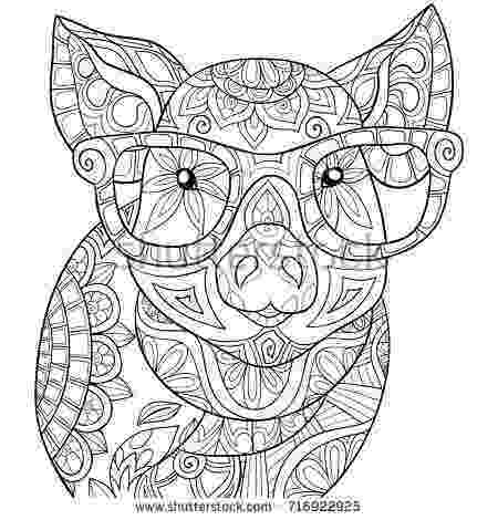 coloring pages mandala animals adult coloring pagebook a pigzen style art illustration coloring mandala pages animals