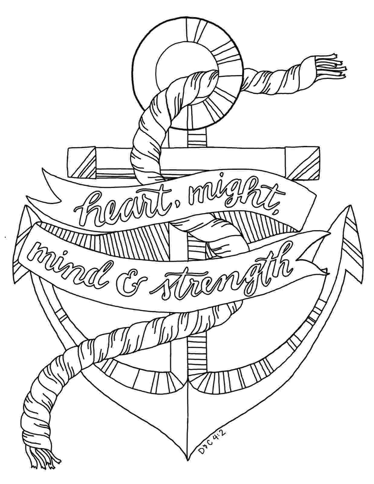 coloring pages of anchors anchor with rope color the bible of coloring anchors pages