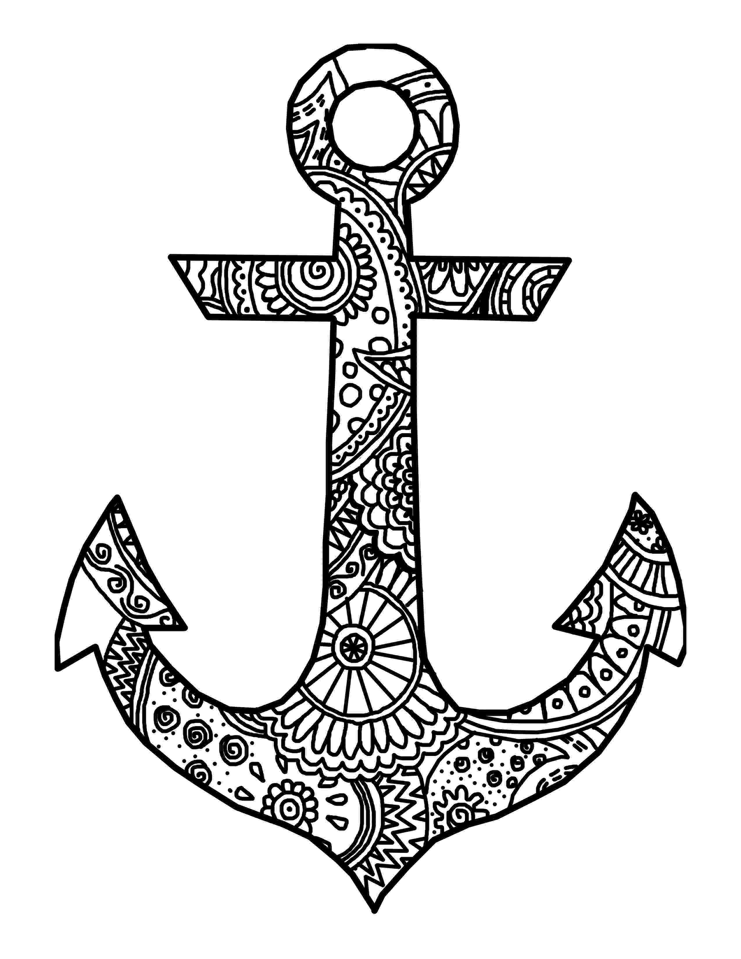 coloring pages of anchors i refuse to sink anchor wall quotes decal wallquotescom of coloring anchors pages