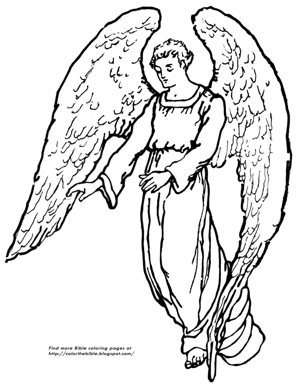 coloring pages of angels a guardian angel coloring page color the bible angels coloring of pages
