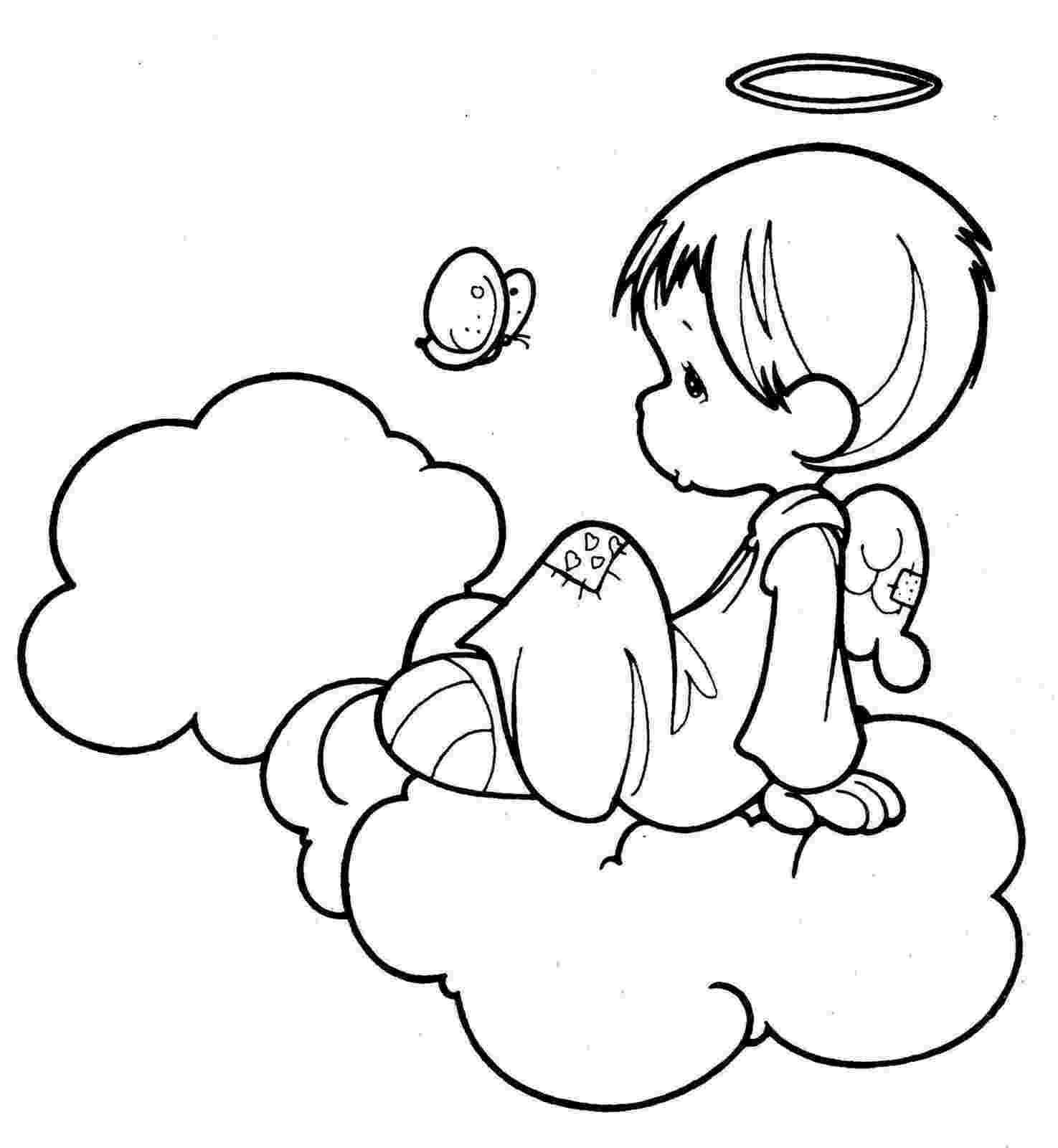 coloring pages of angels angels coloring page graphicsfairy the graphics fairy angels coloring of pages
