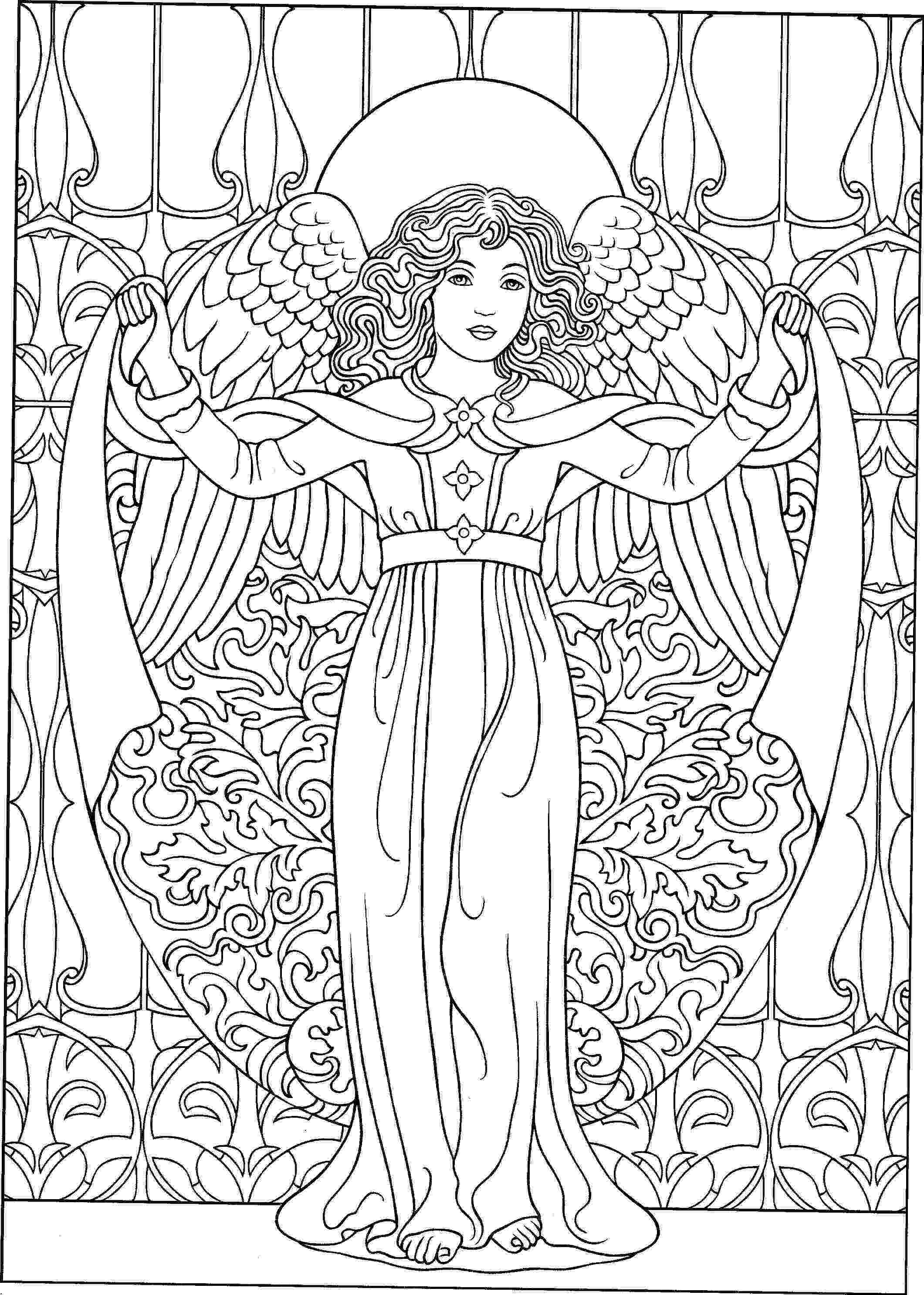 coloring pages of angels beautiful angel coloring page free printable coloring pages coloring of pages angels