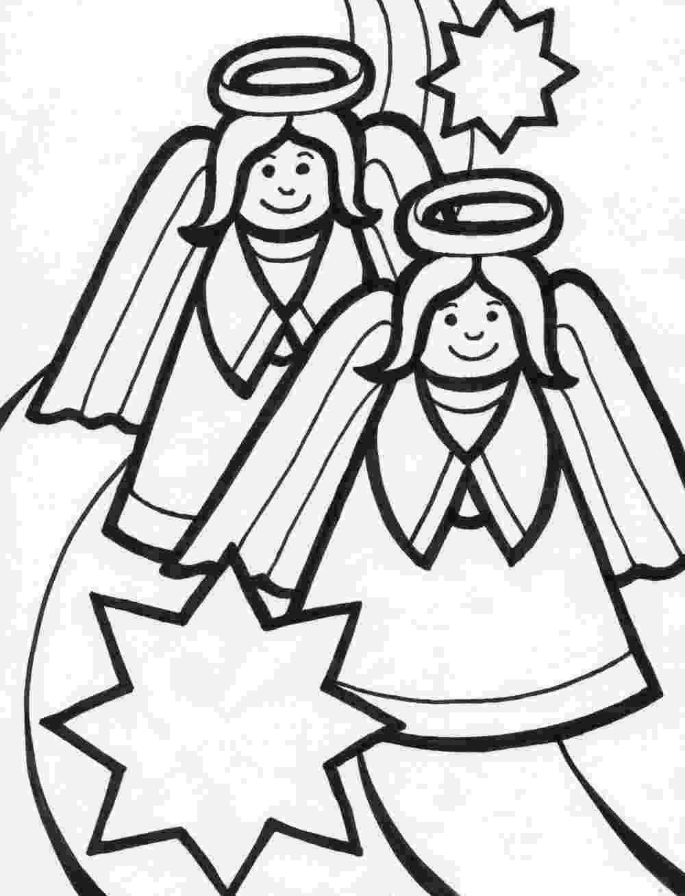 coloring pages of angels christmas angel coloring pages team colors of coloring pages angels