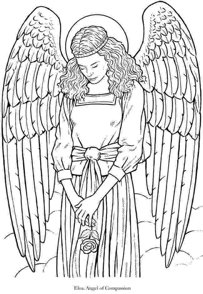coloring pages of angels glorious angel 5 from dover publications httpwww coloring of pages angels