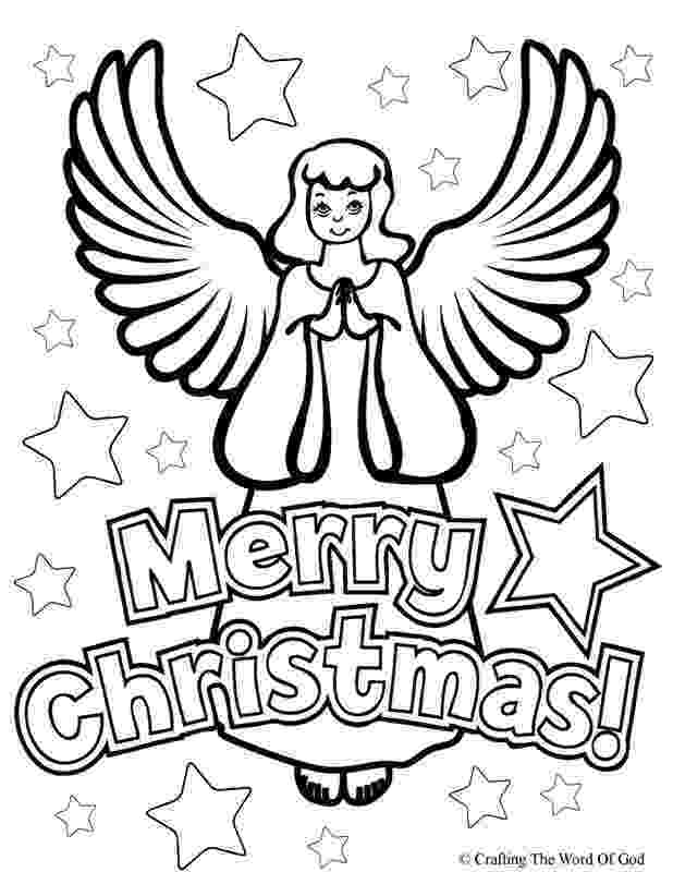 coloring pages of angels merry christmas crafting the word of god pages angels of coloring