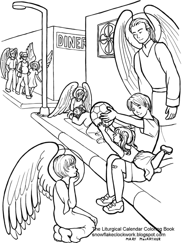 coloring pages of angels snowflake clockwork guardian angels coloring page pages coloring angels of