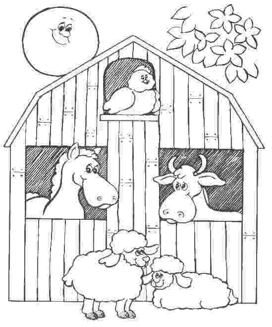 coloring pages of barn animals barnyard animals coloring page free printable coloring pages coloring pages animals of barn