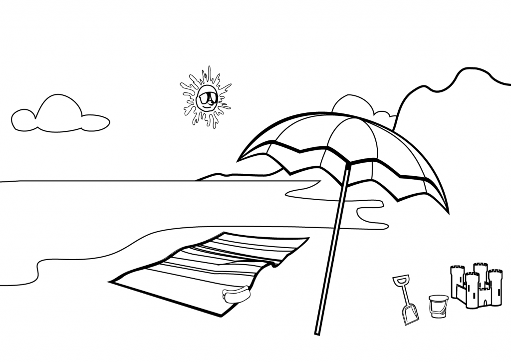 coloring pages of beach scenes beach scene coloring pages getcoloringpagescom beach coloring of pages scenes