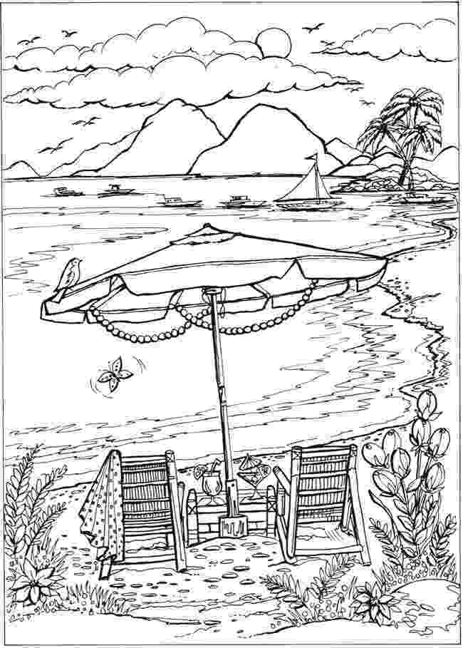 coloring pages of beach scenes beach scene coloring pages getcoloringpagescom beach coloring scenes pages of