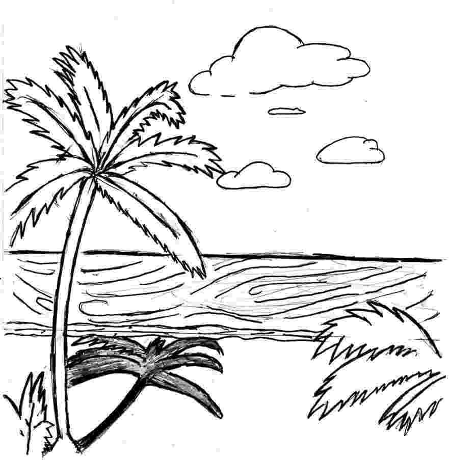 coloring pages of beach scenes beach scene coloring pages getcoloringpagescom of beach scenes pages coloring