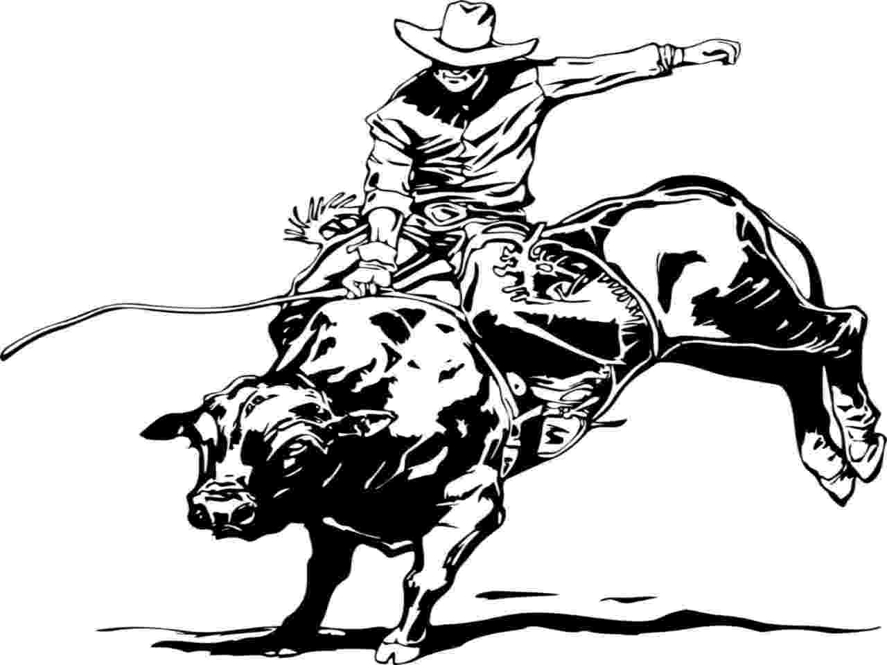 coloring pages of bull riding bucking bull drawing at getdrawings free download coloring pages riding of bull