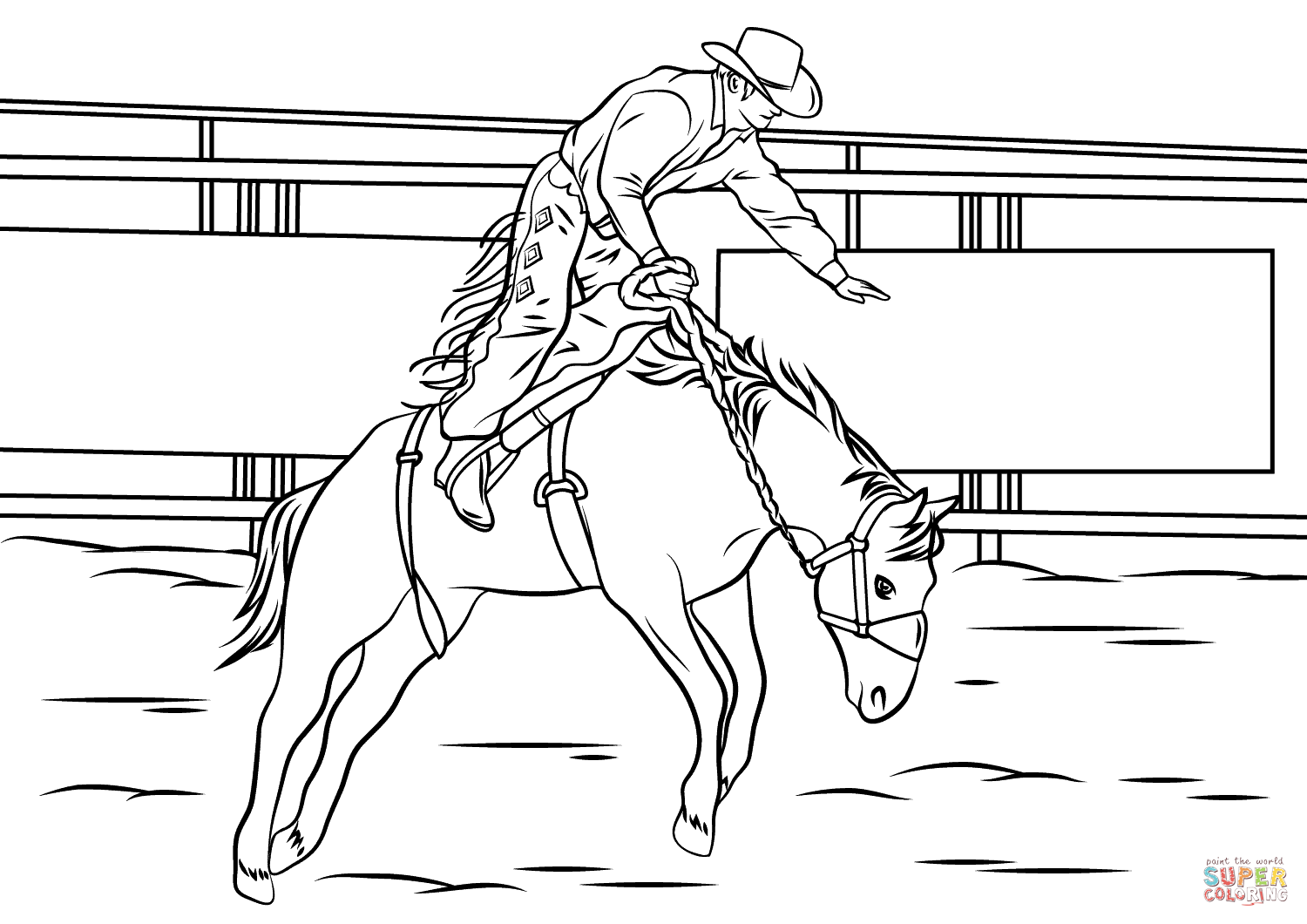 coloring pages of bull riding pin by connie drury on color horsesrodeo coloring riding coloring of pages bull
