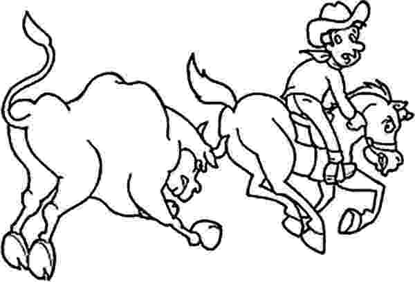 coloring pages of bull riding rodeo coloring pages bull rider coloring sheet 2 coloring pages of riding bull