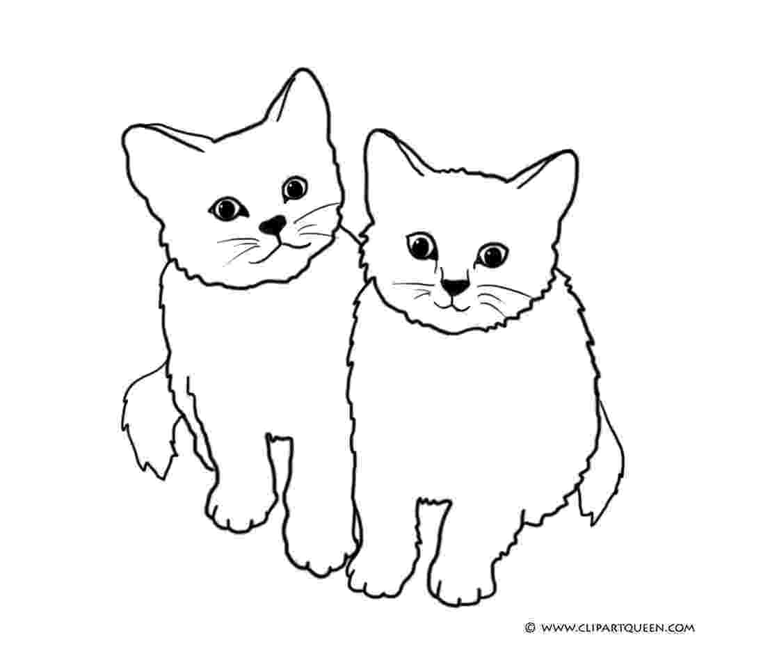 coloring pages of cats cute kitten coloring pages getcoloringpagescom cats coloring pages of