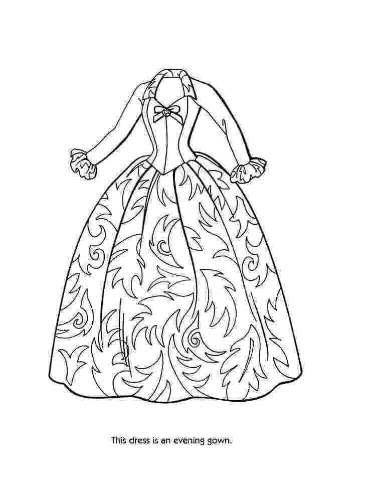 coloring pages of dresses dress coloring pages to download and print for free of pages coloring dresses