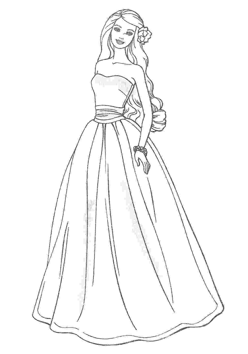 coloring pages of dresses dress coloring pages to download and print for free of pages dresses coloring
