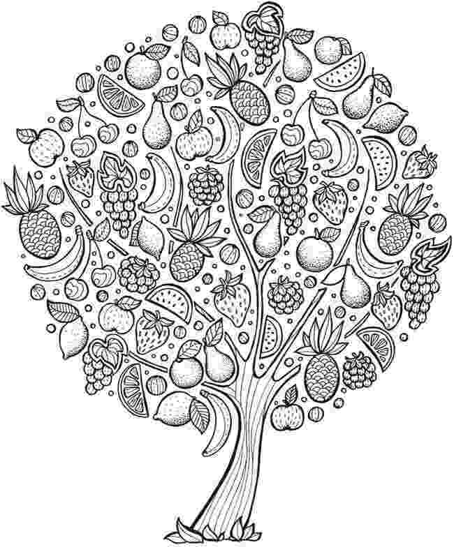 coloring pages of fruit trees pin by laura nicholson on color me zen tree coloring coloring trees of fruit pages
