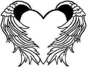 coloring pages of hearts with wings angel wings coloring pages at getcoloringscom free pages with wings hearts of coloring