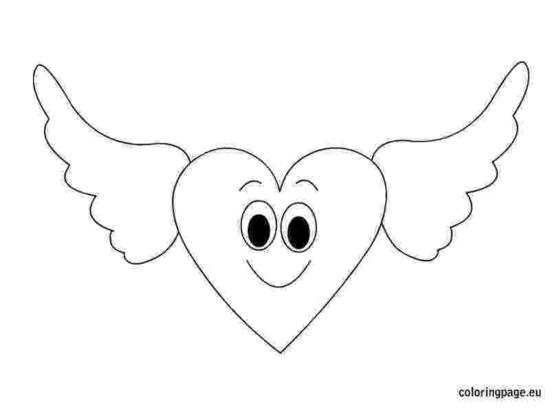 coloring pages of hearts with wings drawings of hearts with banners free download best coloring with wings pages hearts of