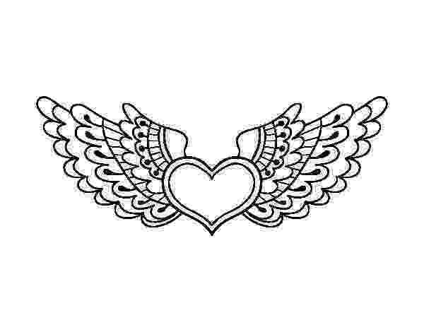 coloring pages of hearts with wings heart with wings coloring page coloringcrewcom hearts coloring wings pages of with