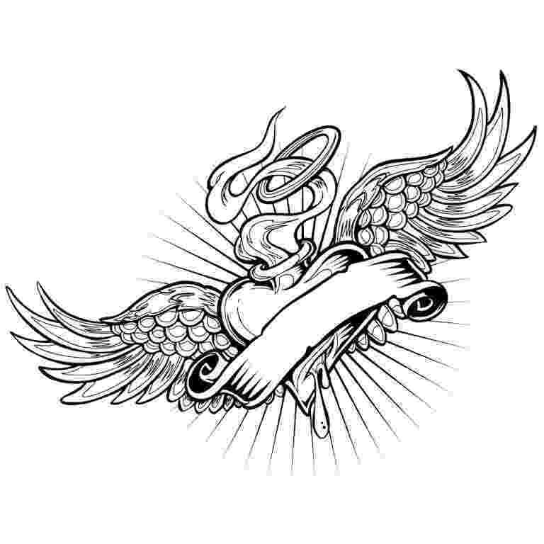 coloring pages of hearts with wings heart with wings coloring pages at getcoloringscom free of coloring wings pages hearts with