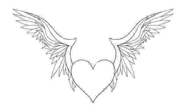 coloring pages of hearts with wings heart with wings coloring pages getcoloringpagescom of wings hearts coloring pages with