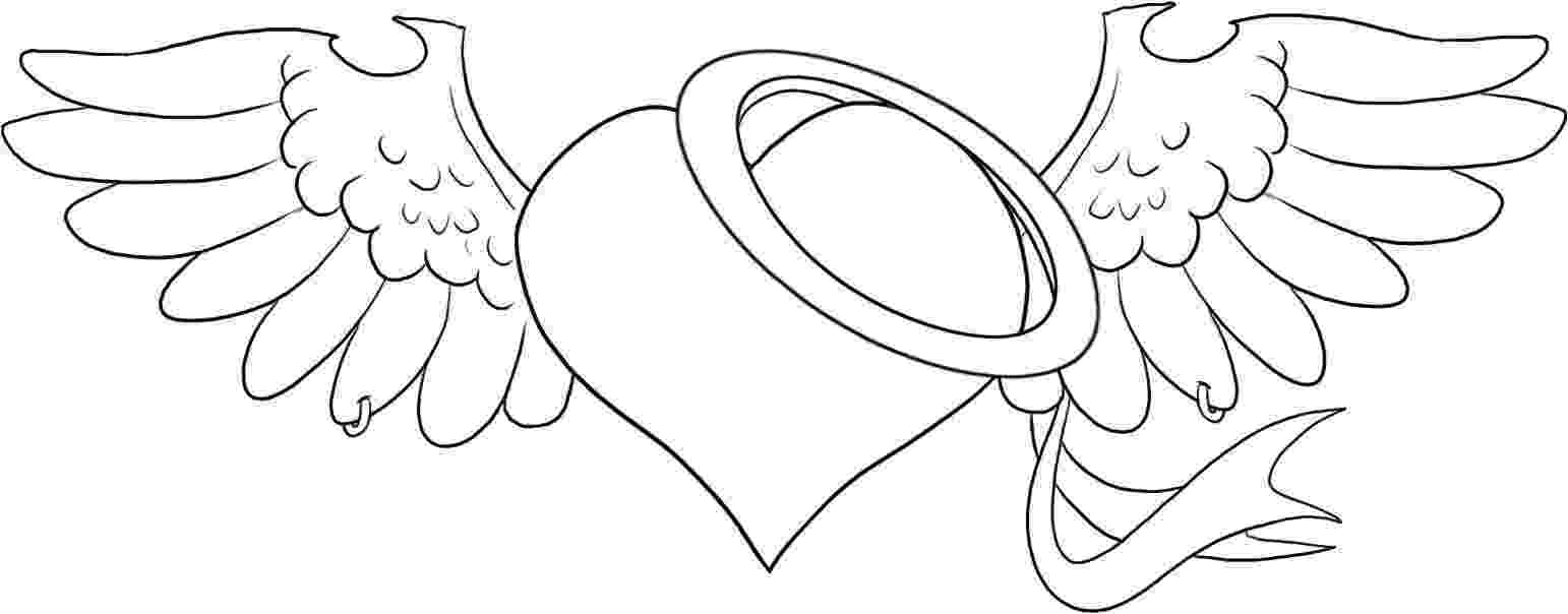 coloring pages of hearts with wings hearts with wings coloring pages printable hearts with with coloring wings of hearts pages