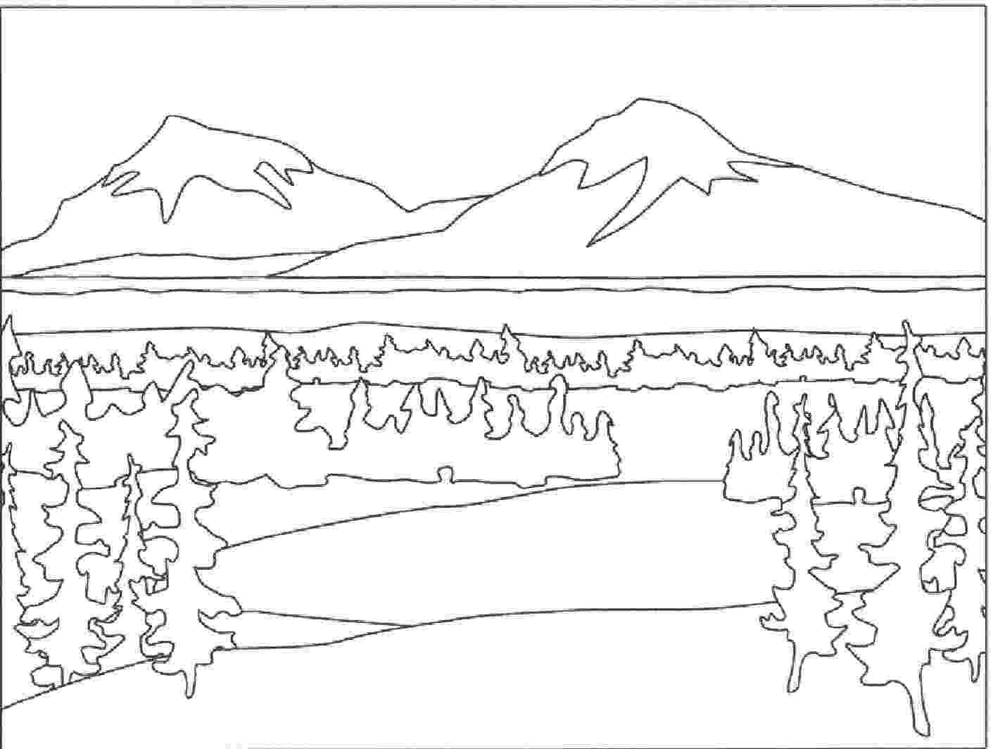 coloring pages of mountains mountain pictures mountains coloring page of mountains pages coloring