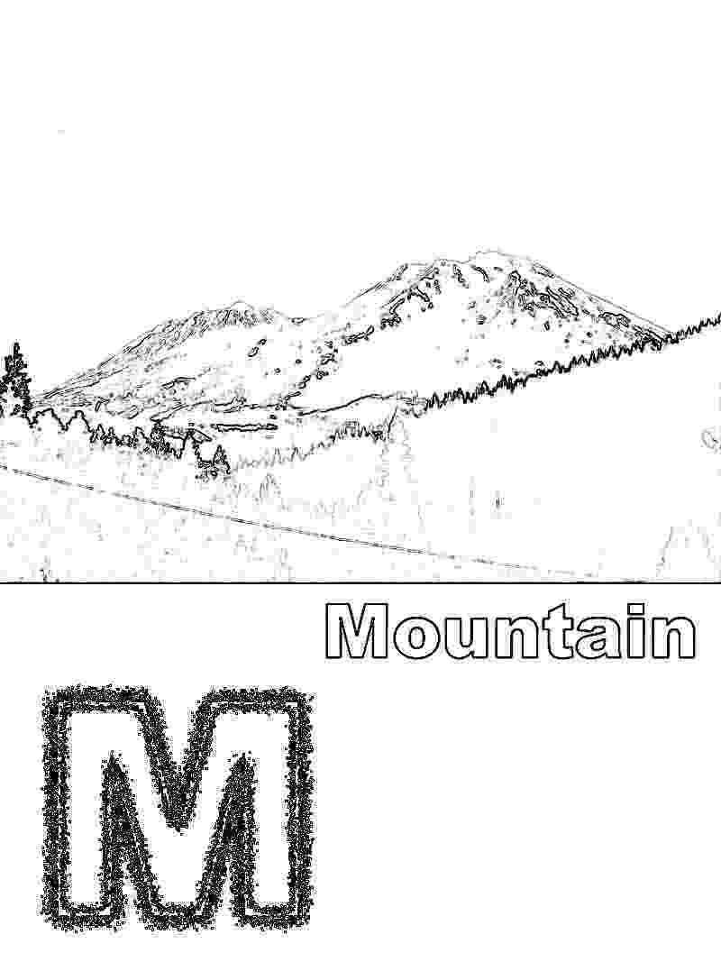 coloring pages of mountains mountain pictures mountains coloring page pages of coloring mountains