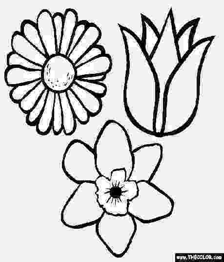 coloring pages of spring flowers spring flower coloring pages getcoloringpagescom pages of spring coloring flowers