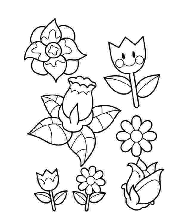 coloring pages of spring flowers spring flowers drawing at getdrawingscom free for flowers spring of coloring pages