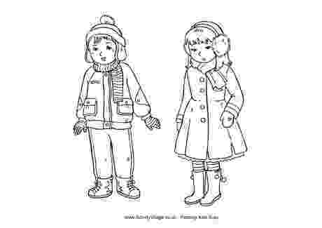 coloring pages of winter clothes 12 best images of esl weather and clothing worksheet clothes winter of coloring pages