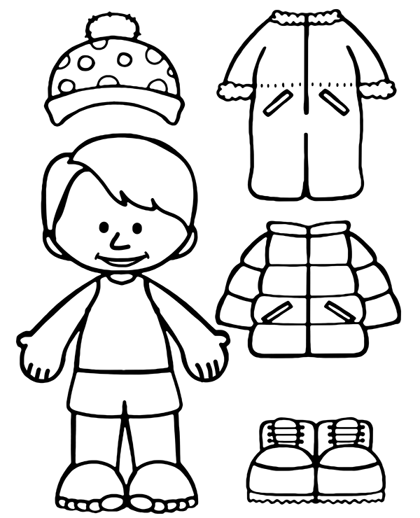 coloring pages of winter clothes clothes for winter on a coloring page winter coloring of pages clothes