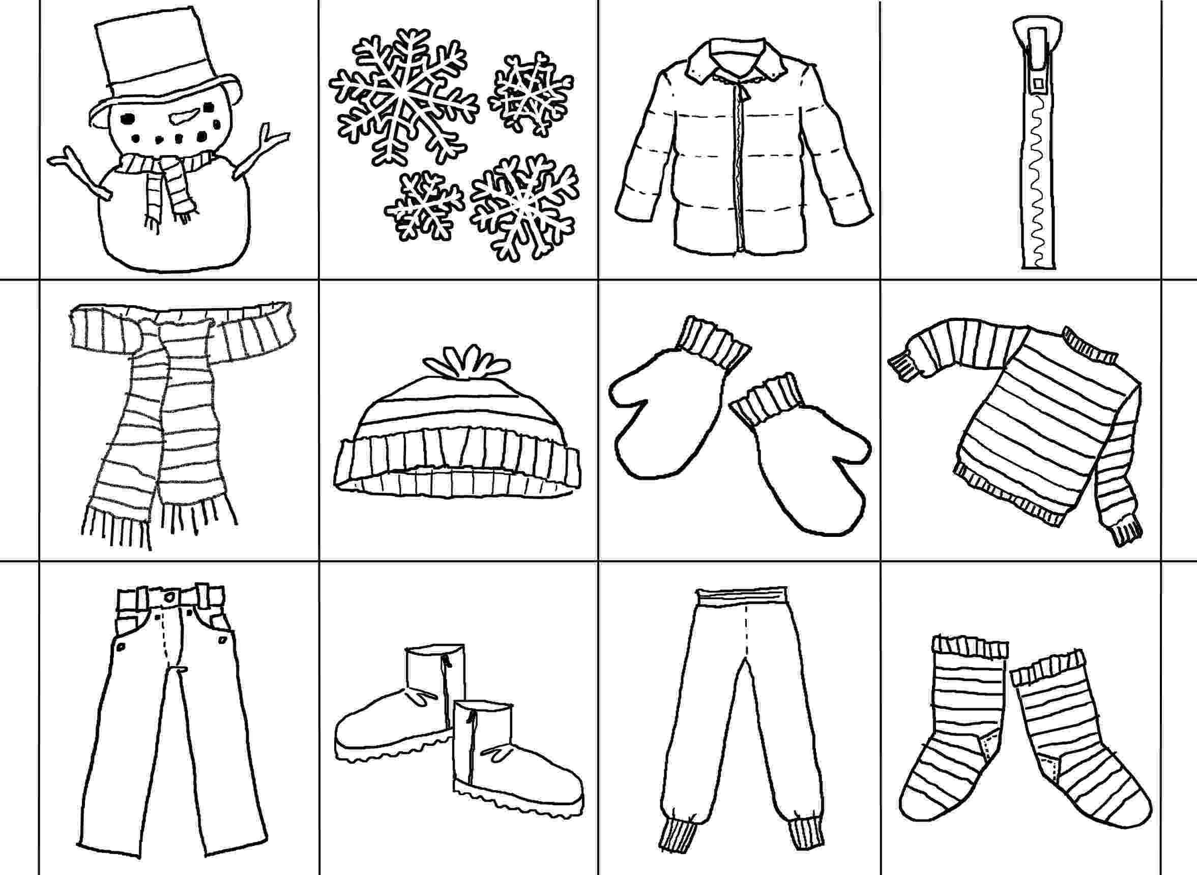 coloring pages of winter clothes the jacket i wear in the snow articulation360 pages coloring of clothes winter