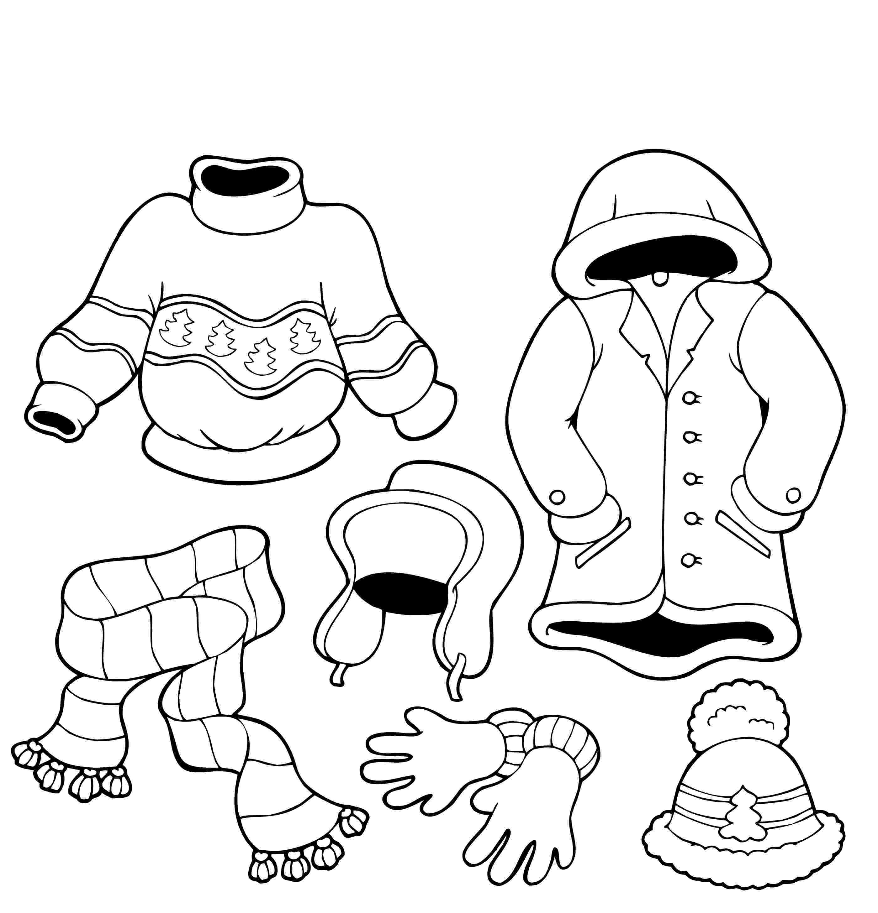 coloring pages of winter clothes winter clothes coloring page preschool ideas pinterest of clothes pages winter coloring