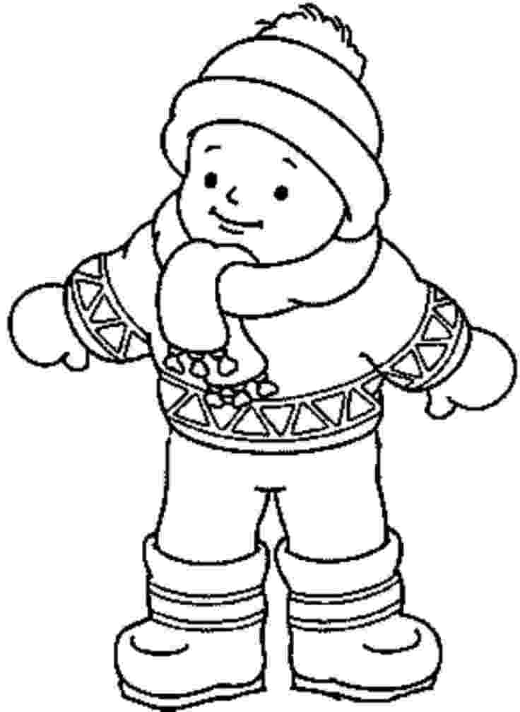 coloring pages of winter clothes winter clothes coloring pages to download and print for free coloring of winter clothes pages