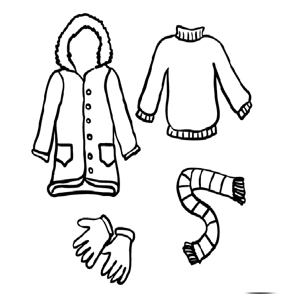 coloring pages of winter clothes winter clothes coloring pages to download and print for free winter coloring of clothes pages