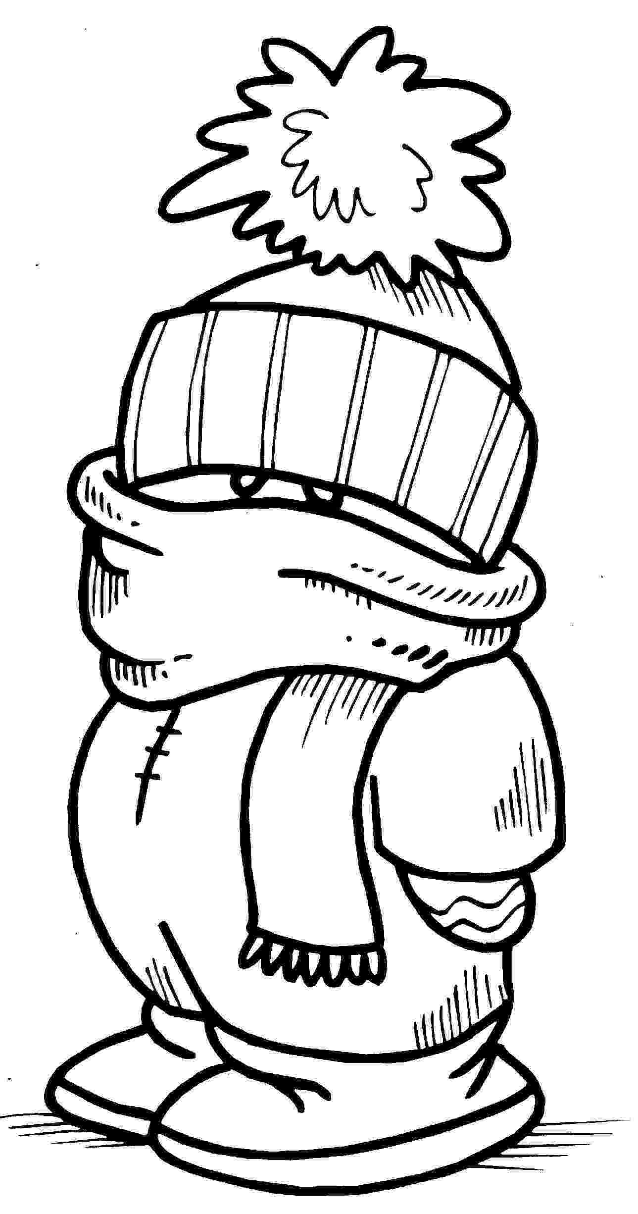 coloring pages of winter clothes winter scarf coloring pages coloring home clothes coloring pages winter of