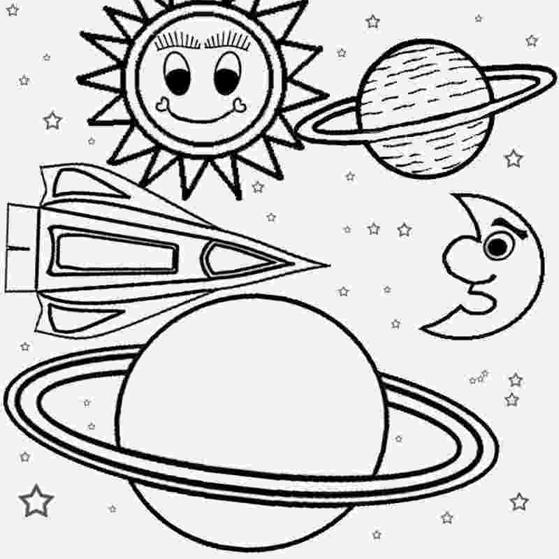 coloring pages planets space universe pages coloring planets
