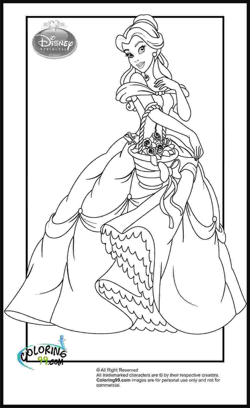 coloring pages princess belle disney princess coloring pages minister coloring belle princess coloring pages