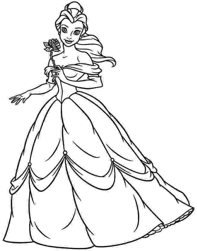 coloring pages princess belle princess belle coloring pages to download and print for free princess pages coloring belle