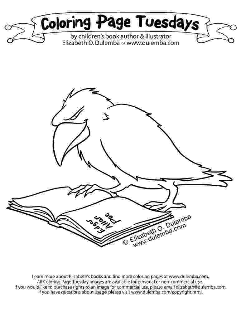 coloring pages raven raven coloring pages kidsuki coloring raven pages
