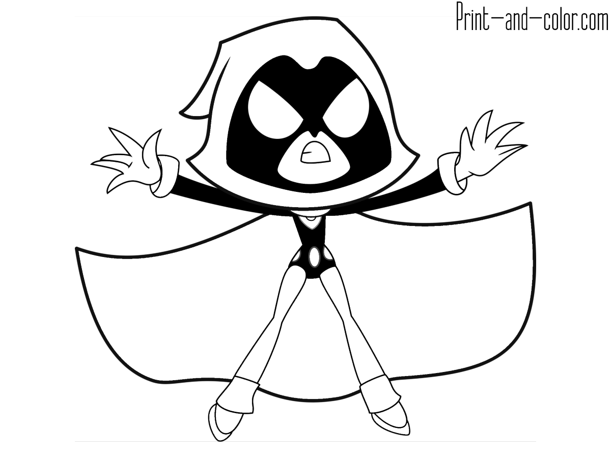 coloring pages raven raven of the teen titans go coloring pages raven coloring pages
