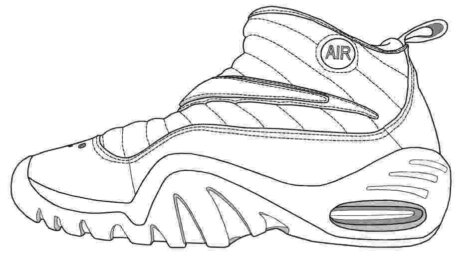 coloring pages shoes basketball shoe coloring pages download and print for free coloring pages shoes