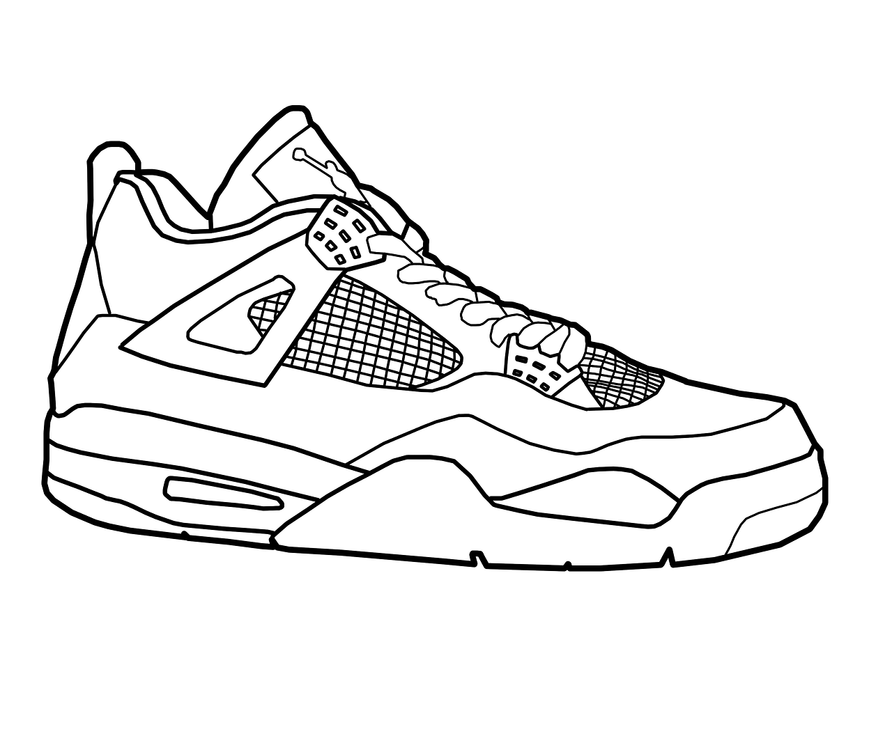 coloring pages shoes jordan drawing shoes at getdrawingscom free for shoes pages coloring