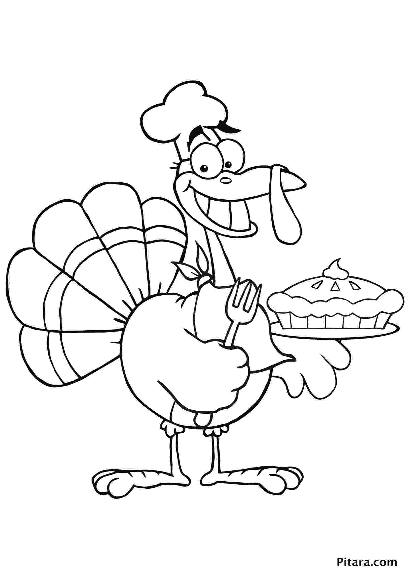 coloring pages turkey turkey coloring pages for kids pitara kids network turkey coloring pages