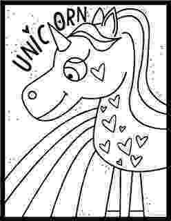 coloring pages unicorns rainbows cute cartoon vector unicorn with rainbow coloring page rainbows unicorns pages coloring